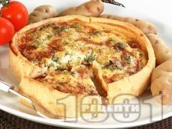 Киш с картофи, яйца, броколи и сметана - снимка на рецептата